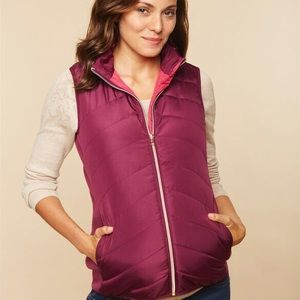 Motherhood maternity puffy vest